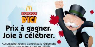 Concours Monopoly McDo 2020