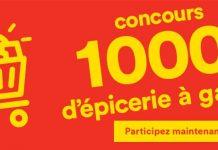 Concours Super C 1000$ d'épicerie à gagner