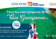 Concours Bel Âge Groupe Voyages Québec 2021